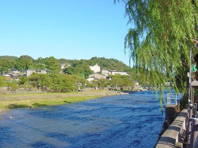 晴れた金沢の川