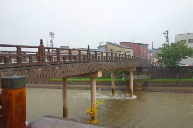 大雨の金沢