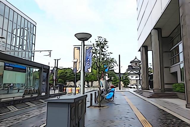 富山城への行き方イラスト