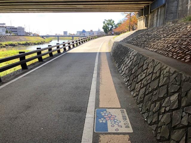 信長公銅像への道(アクセス)