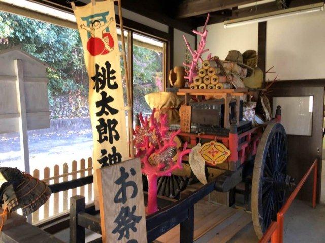 桃太郎神社の宝物館内部