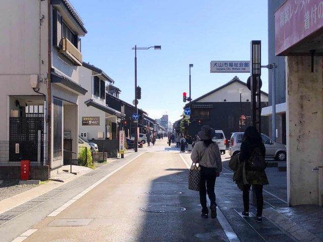 犬山城下町の街並み