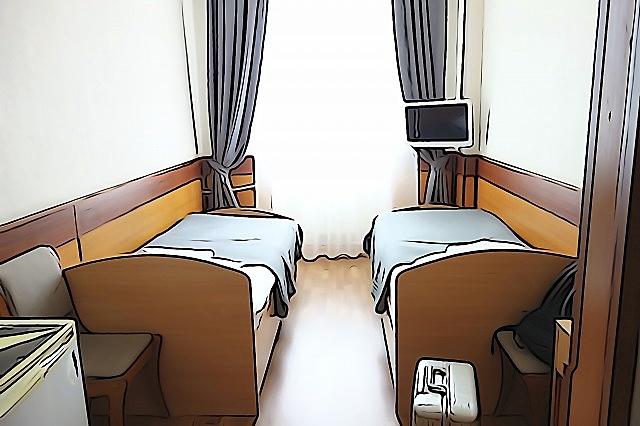 サハリンのホテルモネロン部屋①