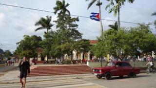 キューバのビニャーレス渓谷の広場