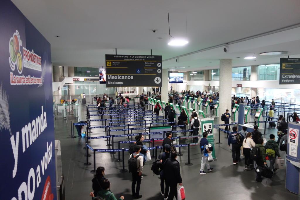 メキシコシティ国際空港のトランジット