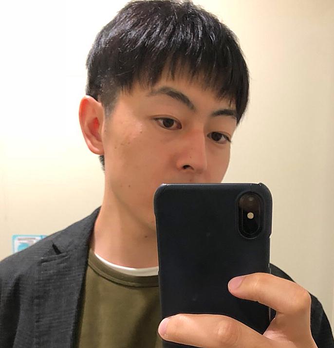 カットモデル後の髪型